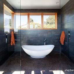 现代风格别墅玻璃隔断装修效果图片