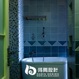 得间设计田园洗手间浴缸装修效果图