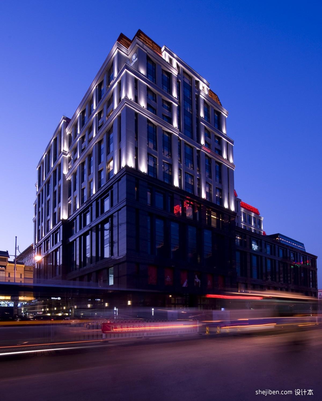 欧式酒店外观图片_北京王府井希尔顿酒店外观 – 设计本装修效果图