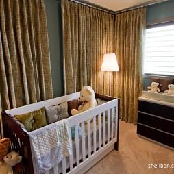 现代风格别墅经典宜家小儿童房窗户窗帘装修效果图片