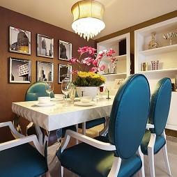 新古典风格餐厅隔板酒柜挂画装修效果图