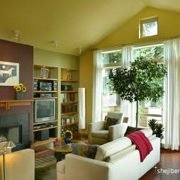 暖黄色调最新客厅装修效果图
