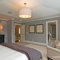 经典美式别墅卧室装修效果图