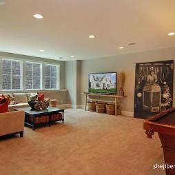 经典美式别墅最新客厅装修效果图