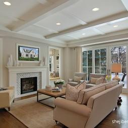 经典美式别墅 最新客厅装修效果图