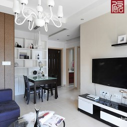 现代风格客厅 电视墙效果图