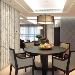 现代三室一厅餐厅装修图