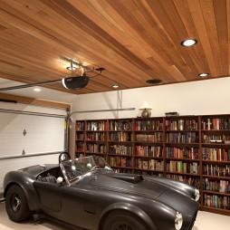 2017混搭风格别墅豪华创意书房带小汽车装修效果图