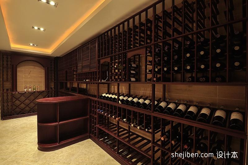 现代风格吊灯模型_中式风格别墅小型红酒酒窖酒柜装修效果图图片 – 设计本装修 ...