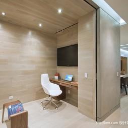 2017现代风格四室一厅开放式书房隔断装修效果图