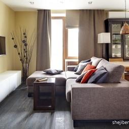 超小客厅不吊顶简易电视墙沙发家具摆放图片