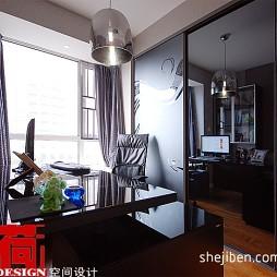 现代风格三室一厅创意整体书房装修效果图