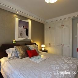 2017混搭婚房卧室布置图片