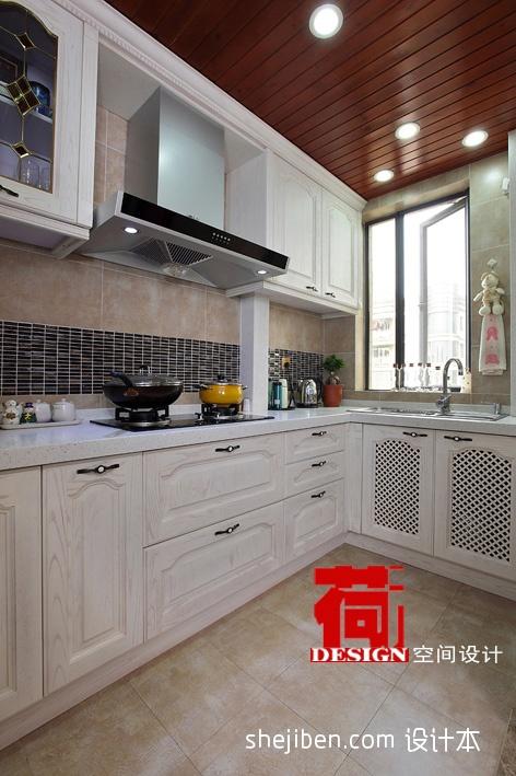 衣帽间门设计效果图_2017美式风格厨房白色橱柜效果图大全 – 设计本装修效果图