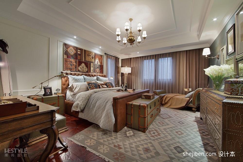 宜家卫生间样板房_美式风格样板房宜家大卧室窗帘装修效果图 – 设计本装修效果图