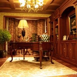 美式风格别墅豪华宜家书房装修效果图