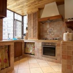 美式风格厨房瓷砖效果图