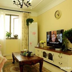 地中海小户型客厅电视墙效果图