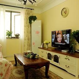 简装超小客厅石膏线条吊顶
