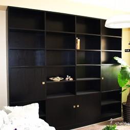 2017现代风格三室一厅宜家书房展示柜装修效果图