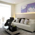 小平米简约清新客厅不吊顶设计效果图