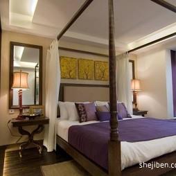 2017东南亚风格四居室次卧室装修效果图