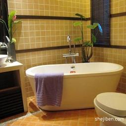 东南亚风格主卫生间浴缸装修图片