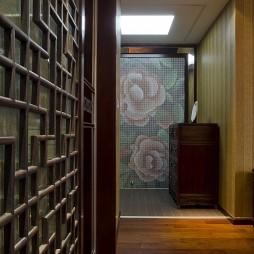 2017中式风格别墅家装玄关过道装饰柜装修效果图欣赏