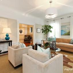 简约欧式风格客厅沙发效果图