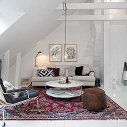 现代风复式客厅吊顶效果图