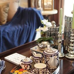 混搭风客厅茶桌装修家装客厅效果图