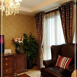 美式风格 客厅窗帘效果图