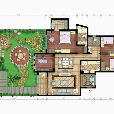 欧式家装设计景观平面图