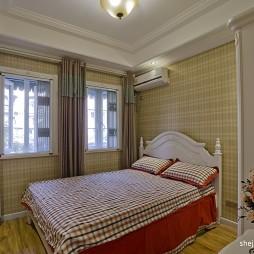 2017欧式风格次卧室窗帘装修效果图