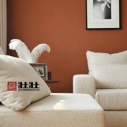 现代风格客厅沙发墙壁挂画装修效果图