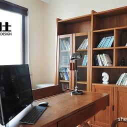 2017现代风格三室一厅宜家书房书柜装修效果图