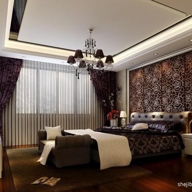 混搭奢华卧室床头软包装背景墙