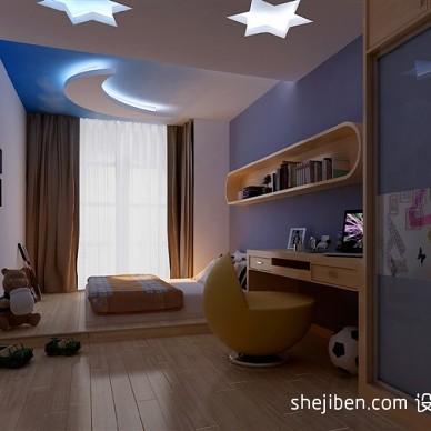 现代童真可爱儿童房间效果图