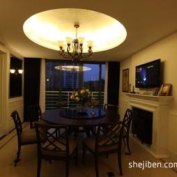 复式楼简欧式客餐厅圆形吊顶造型装修效果图