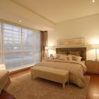混搭风格暖色调卧室落地窗装修效果图图片