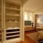 混搭风格暖色调电视背景墙组合柜装修图片