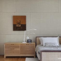 2017现代风格别墅次卧室组合柜装修效果图
