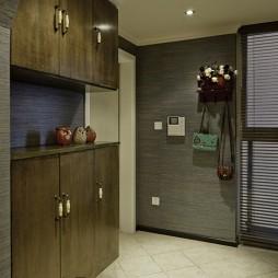 2017混搭风格二居室家居简易进门玄关衣帽架装修效果图片