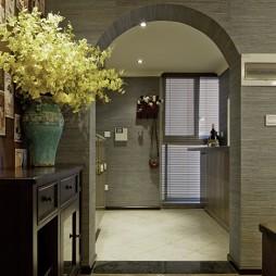 2017混搭风格两室一厅家装进门过道装修效果图欣赏