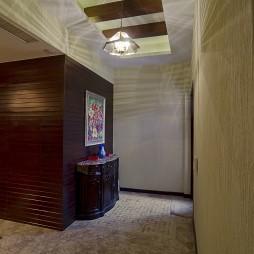 美式风格别墅客厅走廊满吊顶储物柜设计效果图
