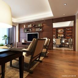 客厅橡木地板装修效果图2017图片