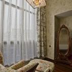 2017美式风格别墅室内休闲区花纹壁纸装修效果图片