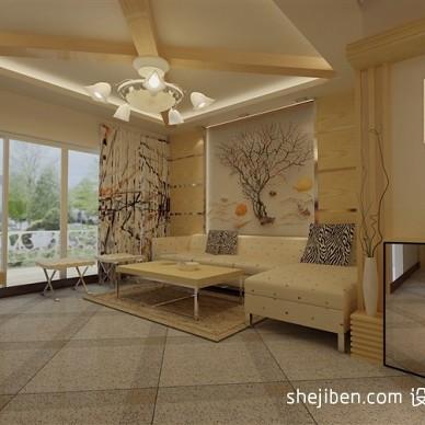 沙发背景原木