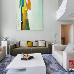 现代风格客厅挂画背景墙设计效果图