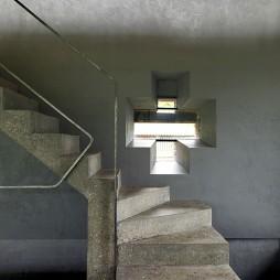 混搭风格别墅室内铁艺楼梯扶手装修
